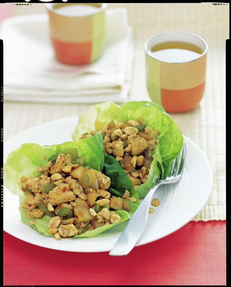 Good Housekeeping recipe for Spicy Ginger Chicken in Lettuce Cups. Photo: Mark Thomas