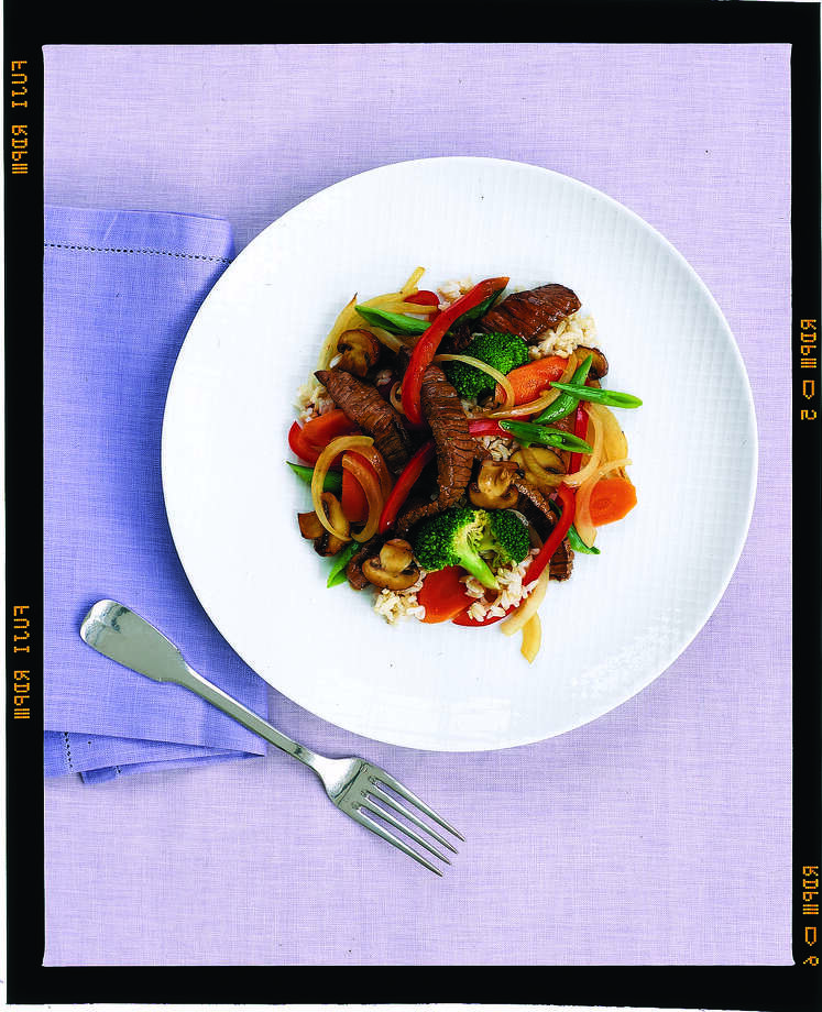 Good Housekeeping recipe for Tangerine-Beef Stir-Fry. Photo: David Prince