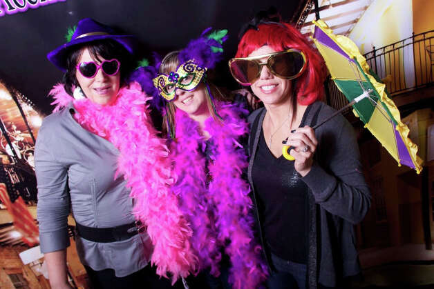 Boas galore: The Black Rock Rocks Mardis Gras fundraiser will be held on Saturday, Feb. 9. Photo: Contributed Photo