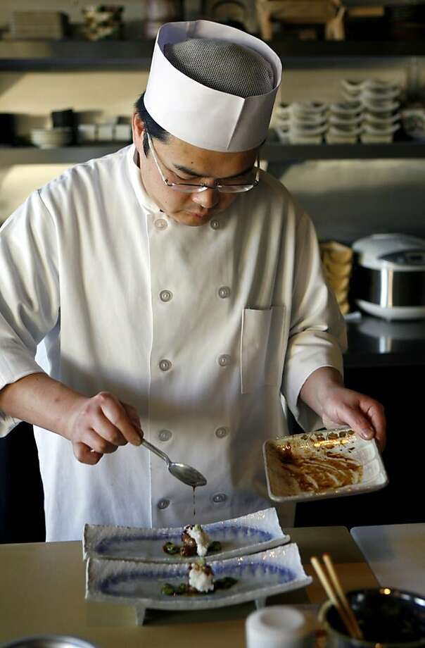 Chef and co-owner Katsuhiro Yamasaki keeps preparing intriguing dishes at Wakuriya, a Japanese kaiseki restaurant at the Crystal Springs Shopping Center in San Mateo. Photo: Hardy Wilson, The Chronicle