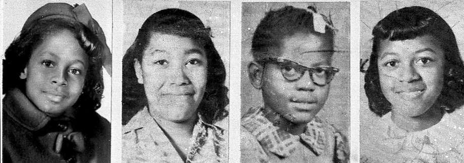 Denise McNair, left, Carole Robertson, Addie Mae Collins and Cynthia Wesley were killed in a bombing at a church in Birmingham, Ala., in 1963. Photo: ASSOCIATED PRESS