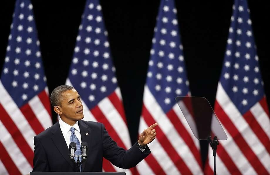 President Obama outlines his immigration proposal at a high school in Las Vegas. Photo: Isaac Brekken, Associated Press