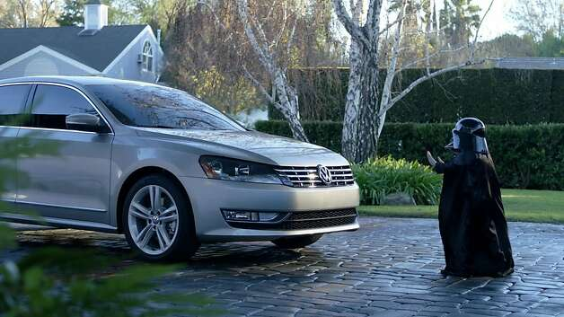 Darth Vader uses the Force on a 2012 Volkswagen Passat in a 2011 ad. Photo: Lucasfilm, MCT