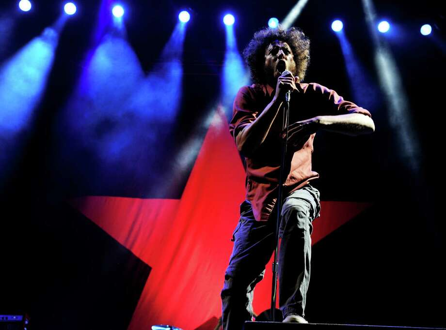 Zack de la Rocha of Rage Against the Machine performs on July 30, 2011 in Los Angeles. Photo: Kevin Winter, Getty Images / 2011 Getty Images
