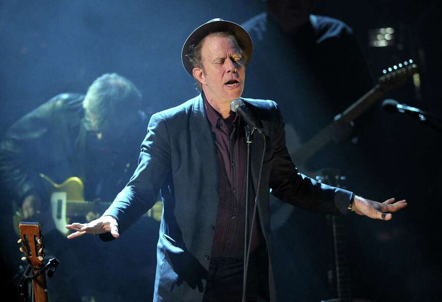 Tom Waits performs at the 26th annual Rock and Roll Hall of Fame Induction Ceremony at The Waldorf-A