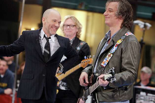 R.E.M. performs during the NBC 'Today' show concert series at Rockefeller Center on April 1, 2008 in New York City. Photo: Scott Gries, Getty Images / 2008 Getty Images