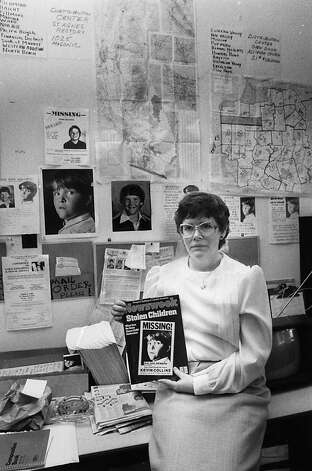 Ann Collins, mother of Kevin Collins, poses with a Newsweek cover depicting her missing son on March 12, 1984. Kevin Collins disappeared in the Haight-Ashbury neighborhood of San Francisco in 1984. Photo: Vincent Maggiora, The Chronicle