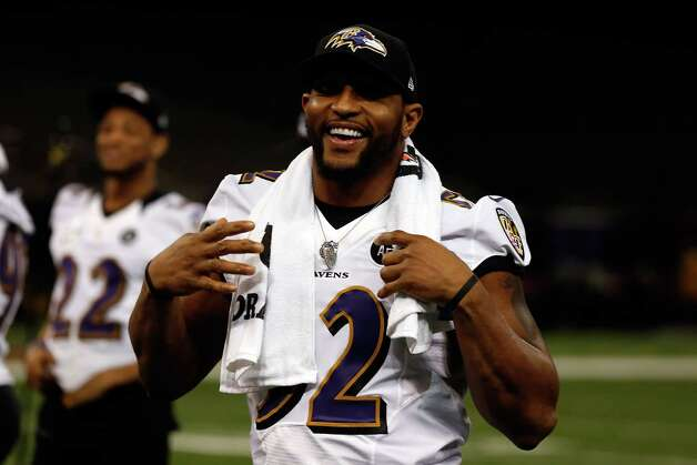 NEW ORLEANS, LA - JANUARY 29:  Ray Lewis #52 of the Baltimore Ravens smiles as he walks to the podium to answer questions from the media during Super Bowl XLVII Media Day ahead of Super Bowl XLVII at the Mercedes-Benz Superdome on January 29, 2013 in New Orleans, Louisiana. The San Francisco 49ers will take on the Baltimore Ravens on February 3, 2013 at the Mercedes-Benz Superdome.  (Photo by Scott Halleran/Getty Images) Photo: Scott Halleran