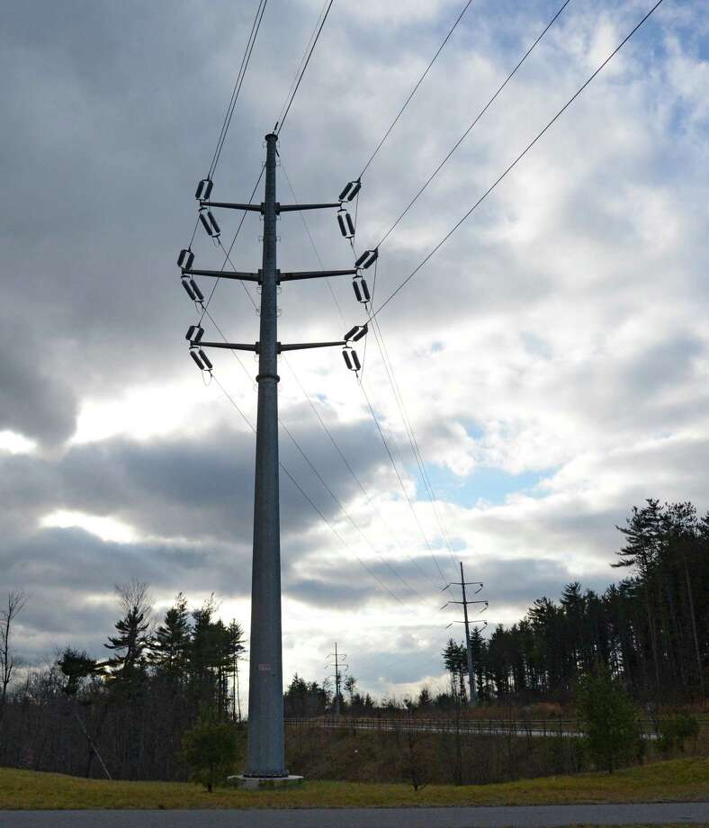 Power lines lead to Global Foundries on Stone Break Extension in Malta, N.Y.  Dec. 11, 2012.   (Skip Dickstein/Times Union) Photo: SKIP DICKSTEIN