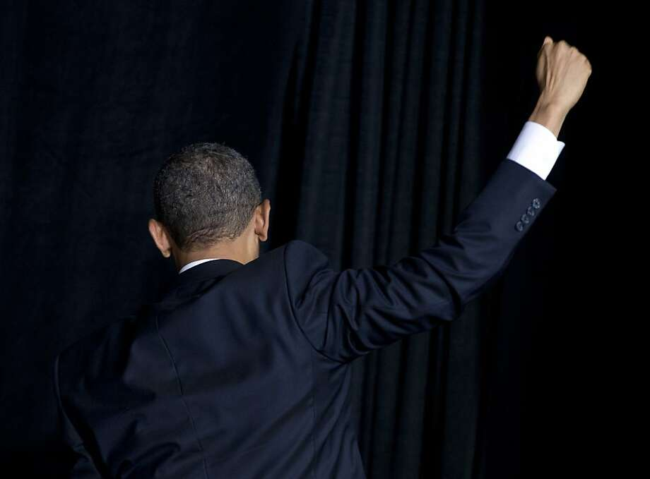 President Barack Obama turns to leave after shaking hands and speaking about immigration at Del Sol High School, Tuesday, Jan. 29, 2013, in Las Vegas. Photo: Carolyn Kaster, Associated Press