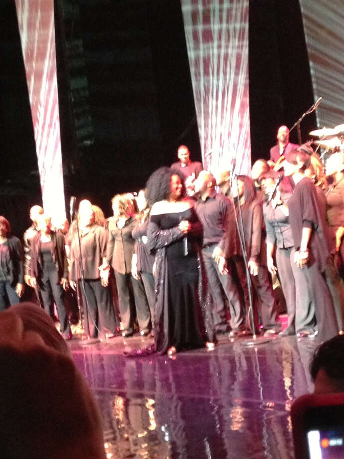 Diana Ross on stage at the Majestic Theatre.