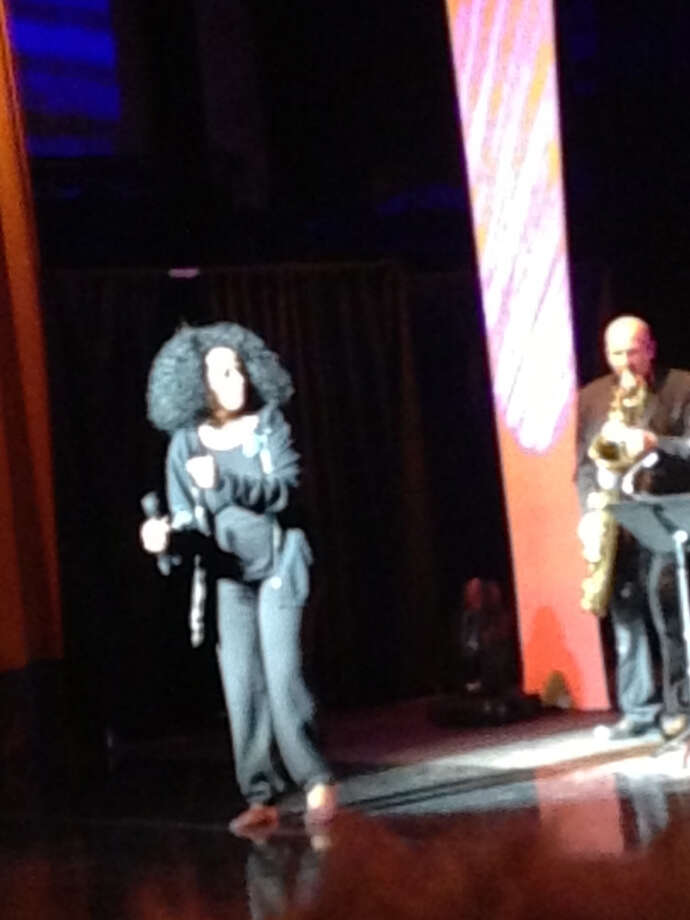 Diana Ross, out of her glamour sequins and feathers returned to the stage for a second command performance.