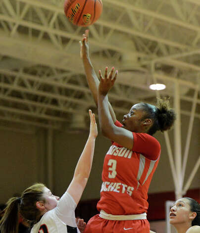 Judson's LaQeisha Brown (3) gets off a shot during a district 25-5A girls Basketball game between the Wagner Thunderbirds and the Judson Rockets at Wagner High School, Tuesday, January 29, 2013. Photo: John Albright, For The Express-News / San Antonio Express-News