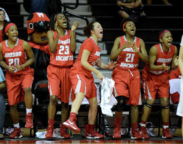 Judson's bench celebrates  during a district 25-5A girls Basketball game between the Wagner Thunderbirds and the Judson Rockets at Wagner High School, Tuesday, January 29, 2013. Photo: John Albright, For The Express-News / San Antonio Express-News