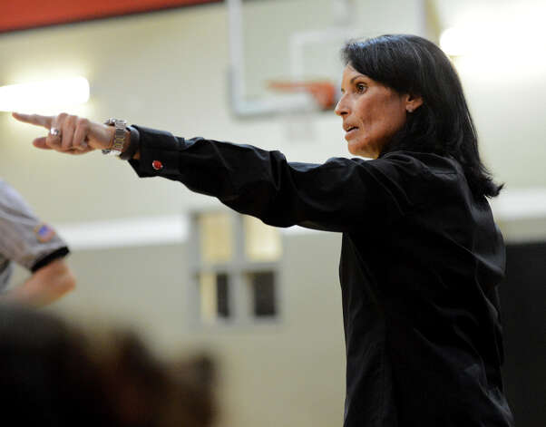 Wagner head coach Christina Camacho during a district 25-5A girls Basketball game between the Wagner Thunderbirds and the Judson Rockets at Wagner High School, Tuesday, January 29, 2013. Photo: John Albright, For The Express-News / San Antonio Express-News