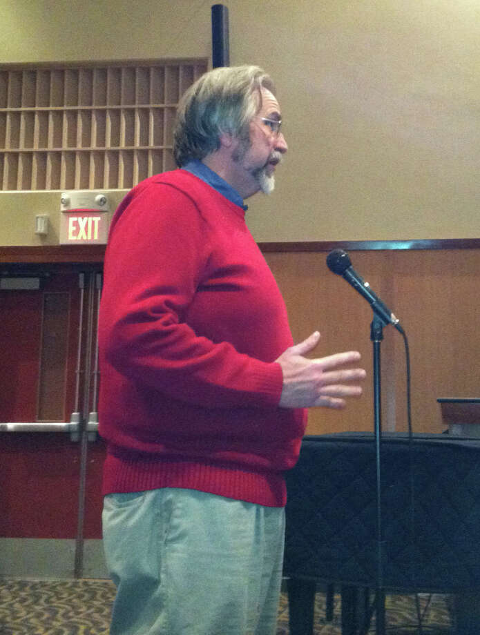 Mark Halstead, a resident of Crest Terrace, was one of many Fairfield residents to comment Tuesday night on the school superintendent's proposed budget for next year. An architect, he said the board needs to put educational programs before considering spending $23 million to renovate Fairfield Ludlowe High School, referring to a discussion of an earlier agenda item on educational specifications for a proposed expansion and window replacement project at the school. Photo: Michael C. Juliano/Staff Photo