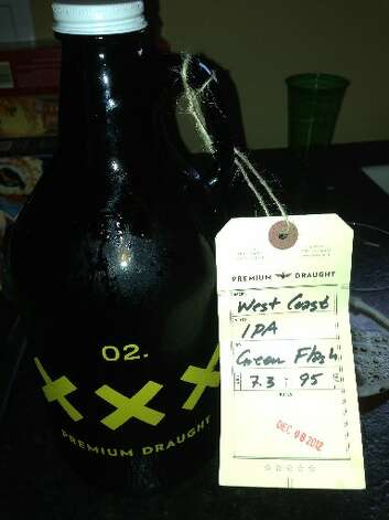 This 64-ounce growler, filled with Green Flash West Coast IPA, was a hit at our own Lights in the Heights party this year.