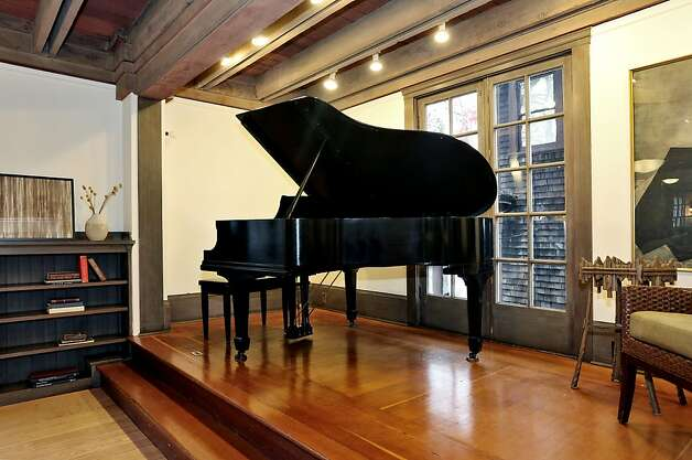 The recital stage in the living room is large enough for a grand piano. Photo: Liz Rusby