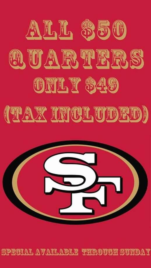 San Francisco dispensary SPARC's 49ers Super Bowl Deal art.
