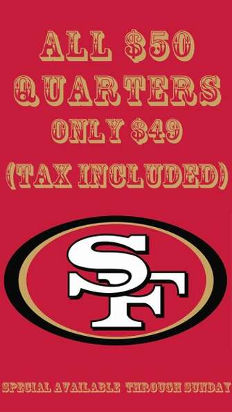 San Francisco dispensary SPARC's 49ers Super Bowl Deal art.