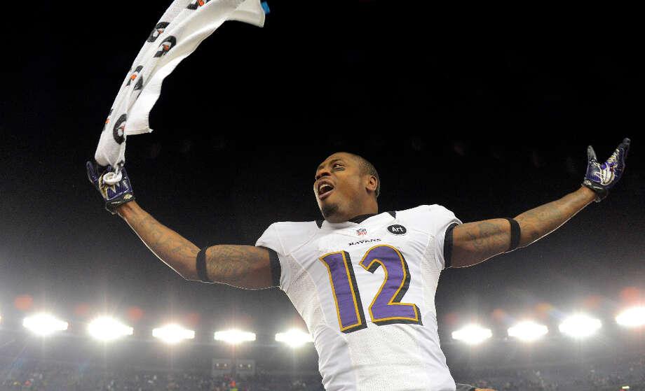 Baltimore Ravens wide receiver Jacoby JonesJones played five seasons with the Texans (2007-2011). Photo: Doug Kapustin, McClatchy-Tribune News Service / MCT