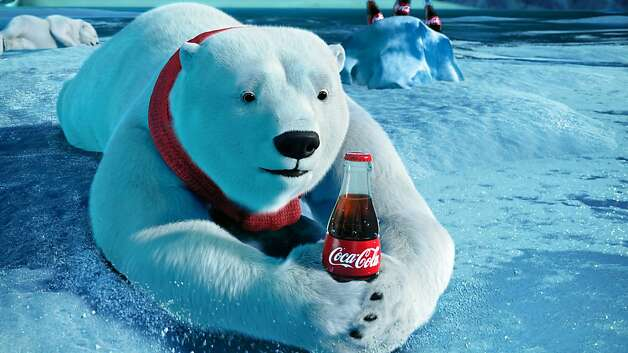 "This video still provided by the Coca-Cola Co. and Wieden + Kennedy, shows the polar bears advertisement the ""Catch,"" that will be aired during Super Bowl XLVI, Sunday, Feb. 5, 2012. (AP Photo/Coca-Cola Co.) Photo: Associated Press"