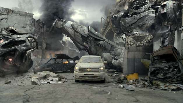 End of the world worries are spoofed during Chevy Silverado's 2012 Super Bowl commercial, in an undated handout photo. Many commercials fell back on tactics that were familiar from a plethora of Super Bowl spots: anthropomorphic animals, second-class celebrities, slapstick violence and riding the coattails of popular culture. (Handout via The New York Times) -- NO SALES; FOR EDITORIAL USE ONLY WITH STORY SLUGGED ADS SUPERBOWL  BY STUART ELLIOTT. ALL OTHER USE PROHIBITED. Photo: Handout, New York Times