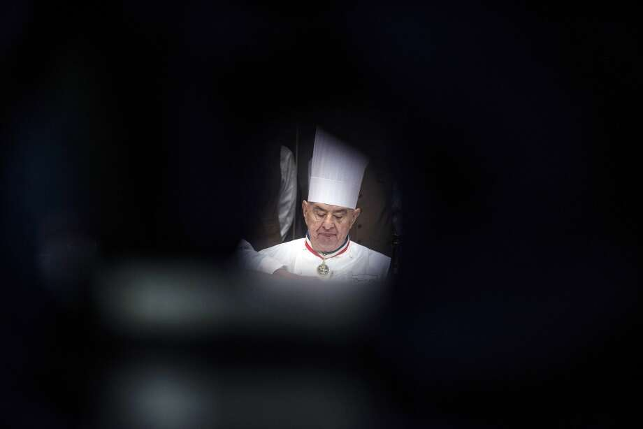 French chef Paul Bocuse judges the competition.