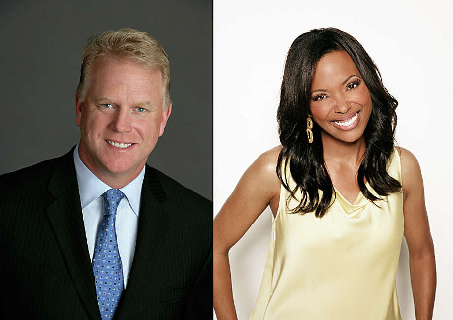 SUPER BOWL'S GREATEST COMMERCIALS 2013  hosted by Boomer Esiason and Aisha Tyler. Photo: Craig Blankenhorn And James Whit / CBS ENTERTAINMENT