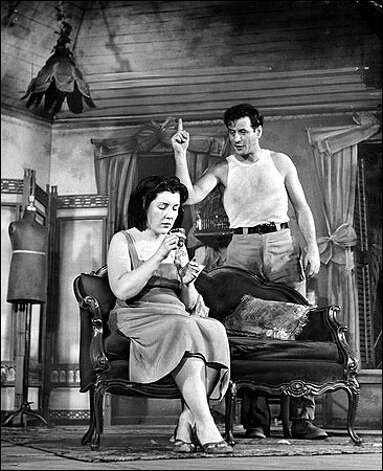 On Broadway in The Rose Tattoo (with Eli Wallach; both stars won lead acting Tonys)