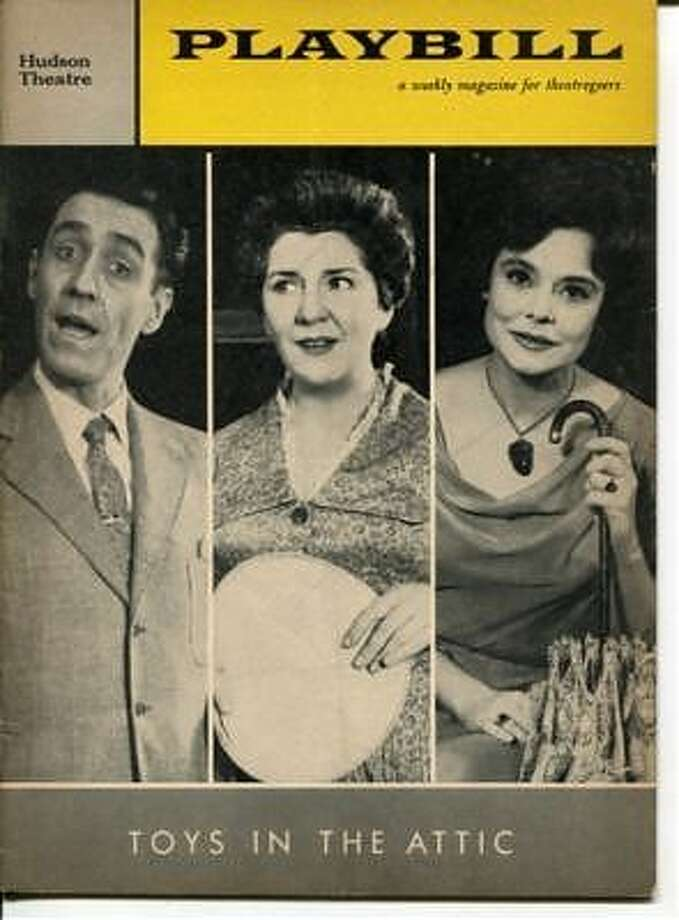 The Playbill from Toys in the Attic (with Jason Robards and Irene Worth; all three were nominated for lead acting Tonys)