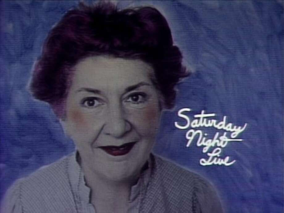 Title card for Maureen Stapleton's 1976 hosting gig on Saturday Night Live