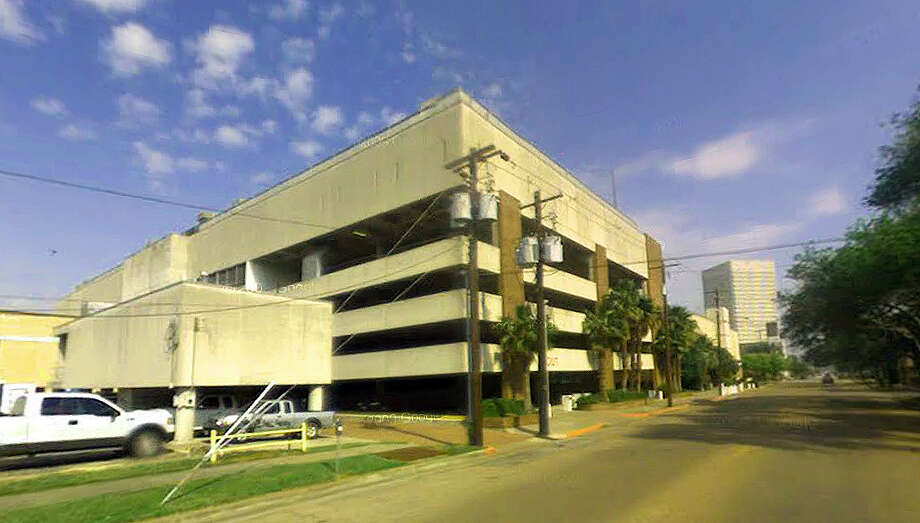 The parking garage at the Galveston County courthouse is already blocked off, in preparation for military training exercises Wednesday, which could include helicopters landing on the roof. Photo: Google Maps