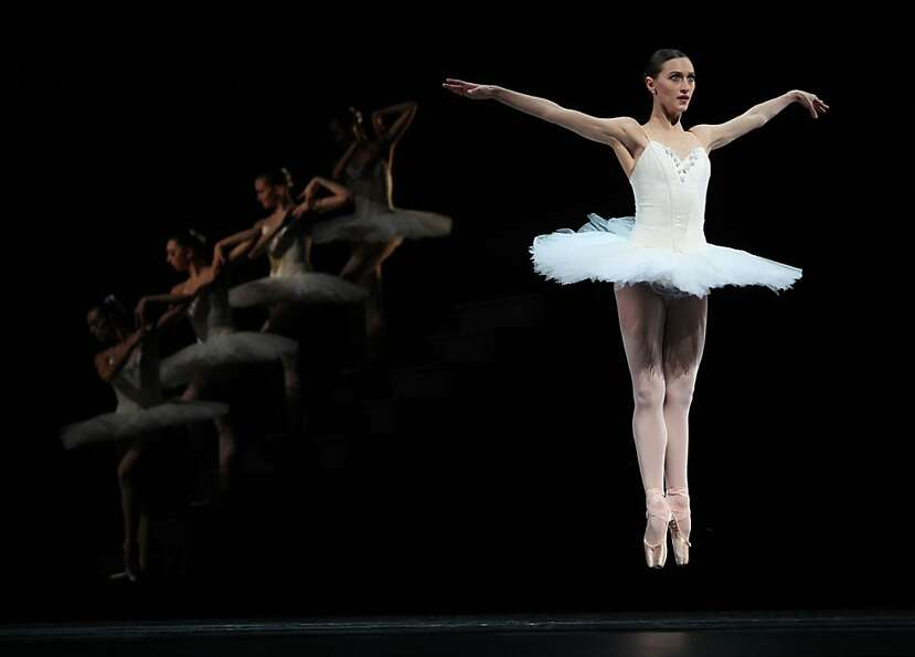 SF Ballet dancer Sarah Van Patten during a dress rehearsal of