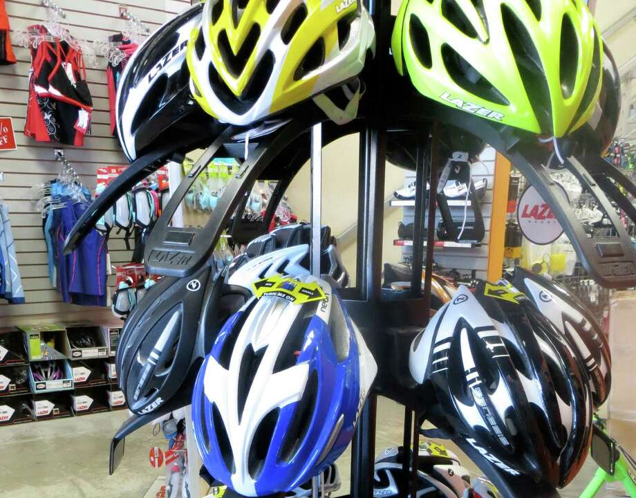 Tri-Sition carries these Lazer bike helmets. Photo: Photo By Jennifer Rodriguez/Spec