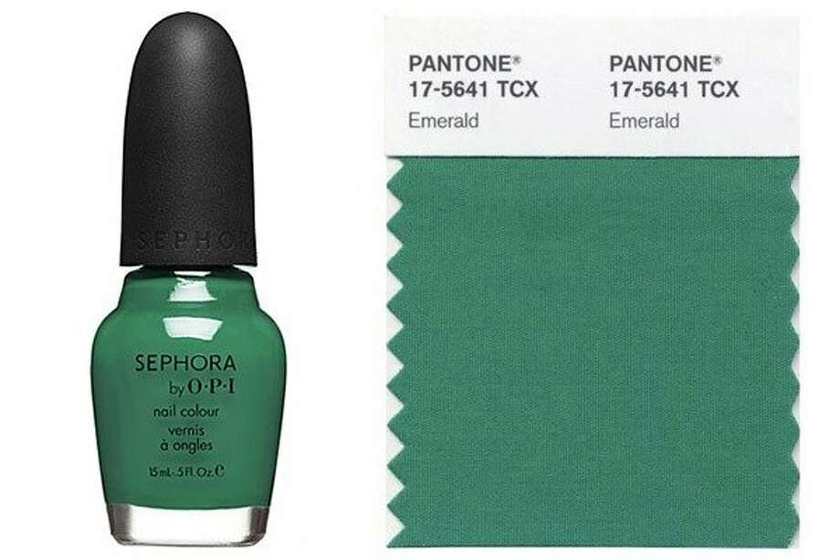 The Color You'll Covet  Pantone announced emerald as the color of the year for 2013 and teamed up with Sephora once again to release limited-edition makeup and accessories in the christened hue. And lest you have any hesitation about vert-toned eyeliner, it's perfectly on trend with the colorful eye looks seen on the spring runways.  Read more: The Best Makeup Primers of the Moment Photo: Courtesy Pantone, Courtesy Sephora