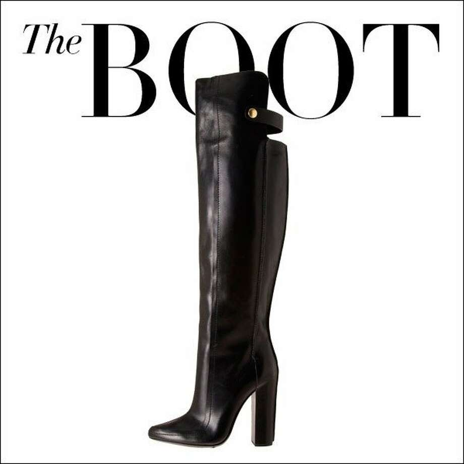 The Boot  An over-the-knee boot ups the drama factor, but is basic enough for everyday ground stomping.  Alexander Wang boots, $1,200, thecorner.com. Photo: Courtesy The Corner