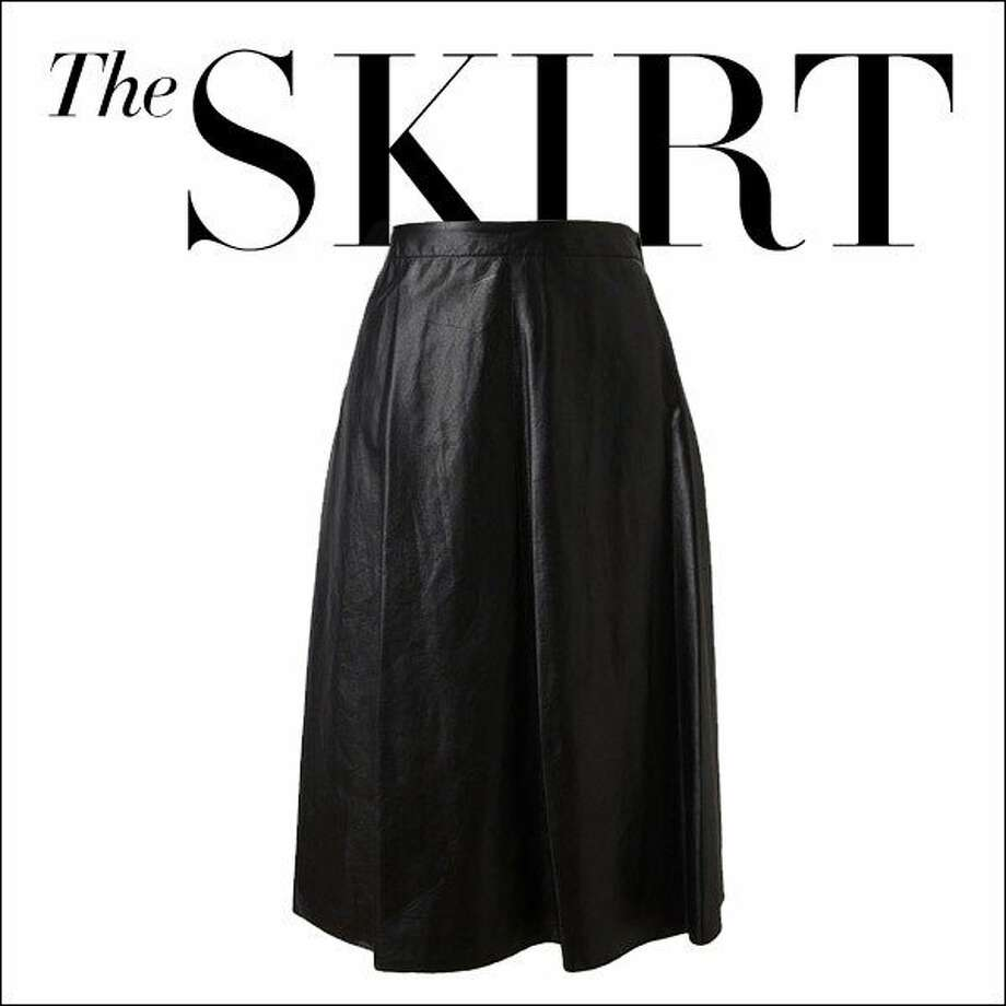 The Skirt  Ladylike and leather rarely come in one perfect package, but the midi skirt in a black hide has serious MVP potential.  3.1 Phillip Lim skirt, $1,320, farfetch.com. Photo: Courtesy Farfetch