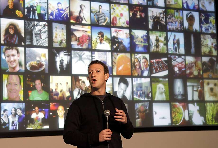 "Facebook CEO Mark Zuckerberg on the jump in mobile users: ""Today, there's no argument, Facebook is a mobile company."" Photo: Jeff Chiu, Associated Press"