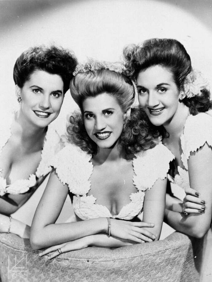 The Andrews Sisters (from left, Maxine, Patty and LaVerne) entertained U.S. troops overseas. Photo: File Photo, Associated Press / MCA