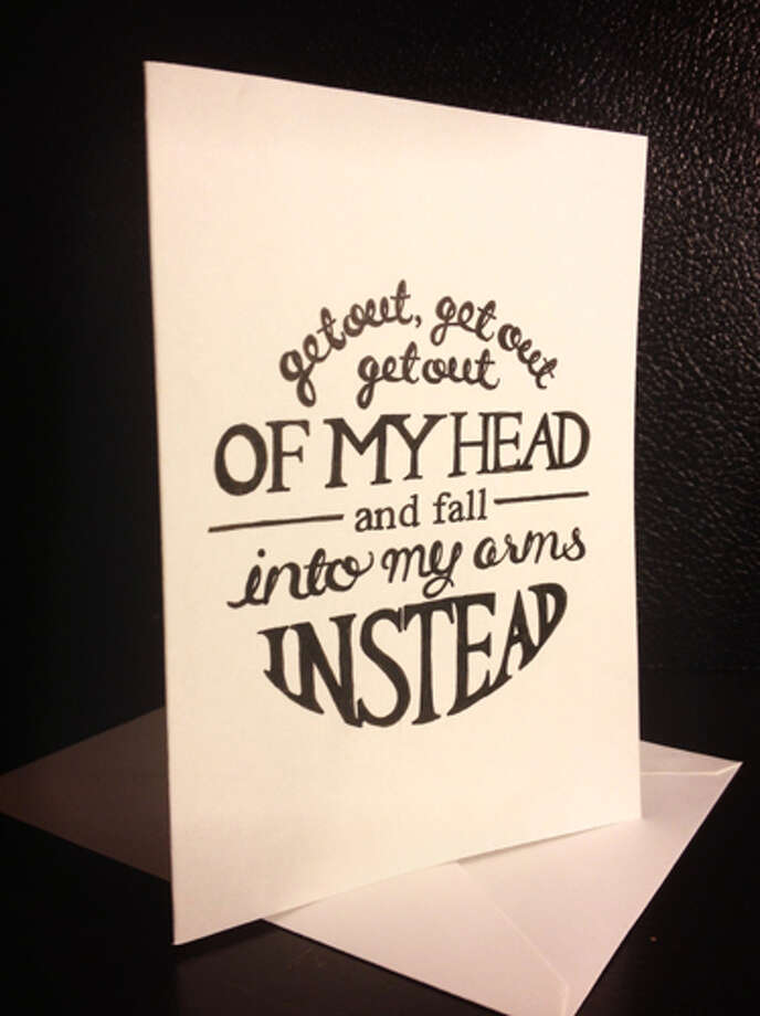 One Direction lyrics card ($6), etsy.com Photo: Esquire.com