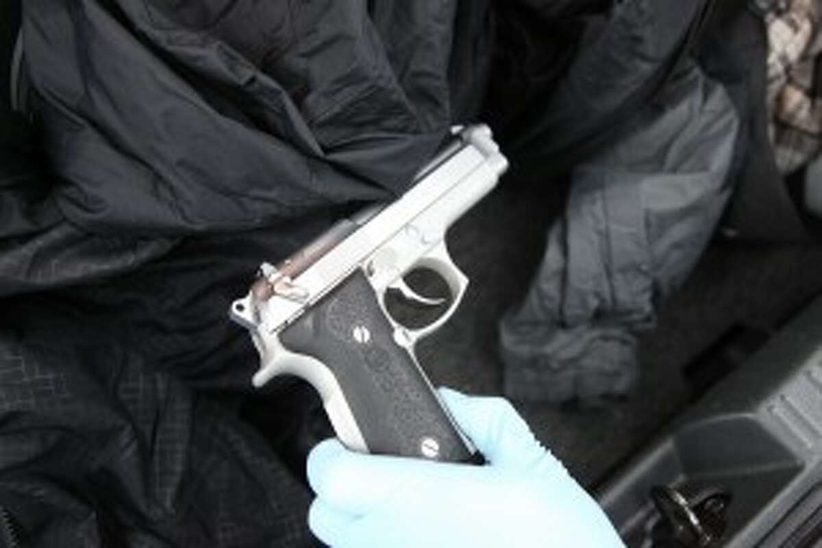 Police say this pistol was turned over to the