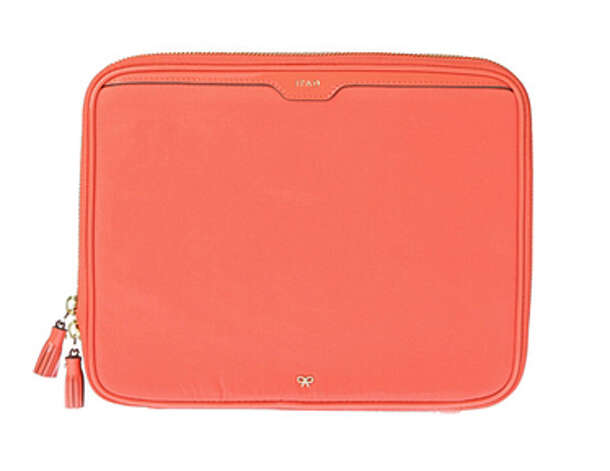 Anya Hindmarch nylon coral iPad case ($395), anyahindmarch.com Photo: Esquire.com