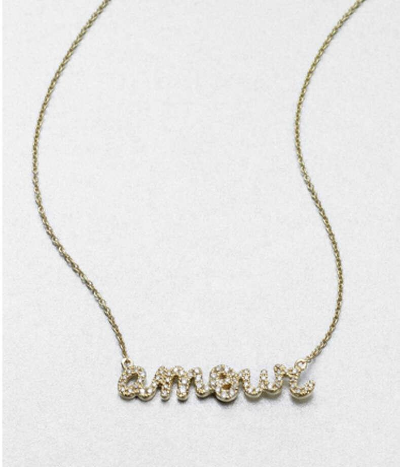 Sydney Evans Amour necklace ($1,145), saksfifthavenue.com Photo: Esquire.com