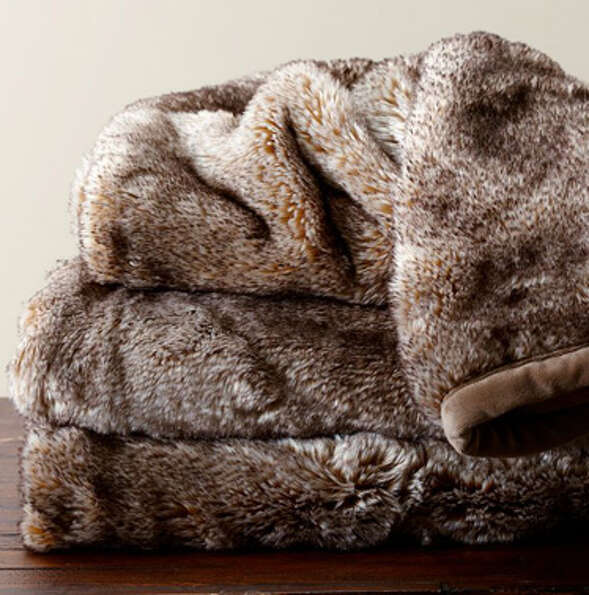 Pottery Barn faux fur throw ($99),