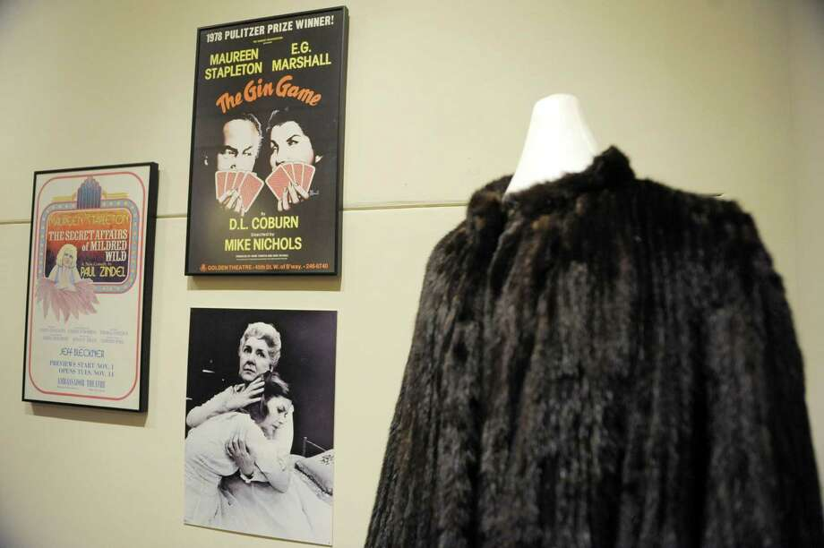 "Posters from movies that Maureen Stapleton acted in along with a fur coat she wore are on display at the Rensselaer County Historical Society on Wednesday, Jan. 30, 2013 in Troy, NY.  The society is creating an exhibit entitled ""Troy is My Home Town, The Life and Times of Maureen Stapleton"", which opens Friday.   (Paul Buckowski / Times Union) Photo: Paul Buckowski  / 00020925A"