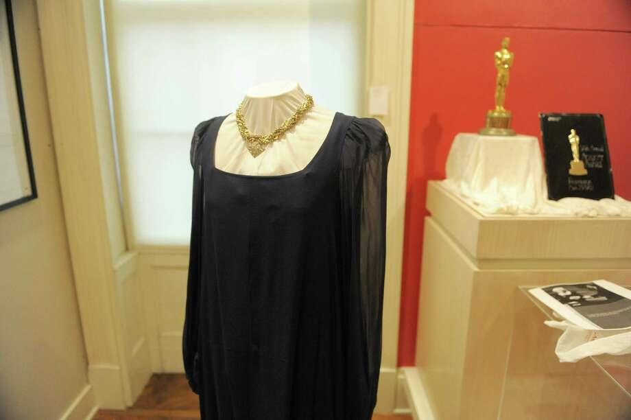 "The dress worn by Maureen Stapleton when she won her Oscar is seen at the Rensselaer County Historical Society on Wednesday, Jan. 30, 2013 in Troy, NY.  The society is creating an exhibit entitled ""Troy is My Home Town, The Life and Times of Maureen Stapleton"", which opens Friday.   (Paul Buckowski / Times Union) Photo: Paul Buckowski  / 00020925A"