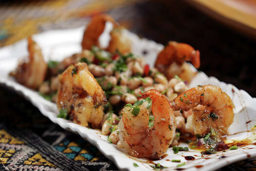 The Garlic Shrimp at Azro Moroccan & Mediterranean Bistro.