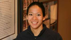 Julie Chu, US Hockey Olympian, at her home in Fairfield.