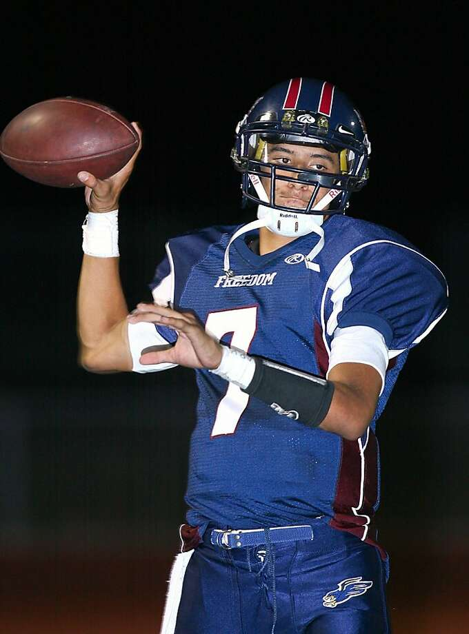 Freedom's Dante Mayes has been compared to Colin Kaepernick, and he plans to play for Nevada. Photo: Ernie Abrea, MaxPreps.com